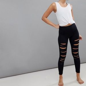 Onzie ASOS Ripped Leggings Yoga Distressed